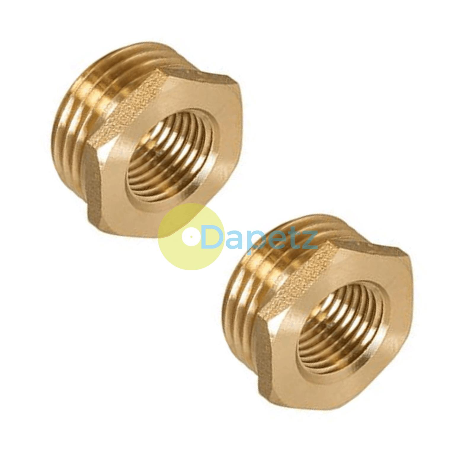 Brass-Reducing-Hexagone-Bush-BSP-Male-a-Femelle-Adaptateur-Connecteur-WRAS-approuves miniature 17