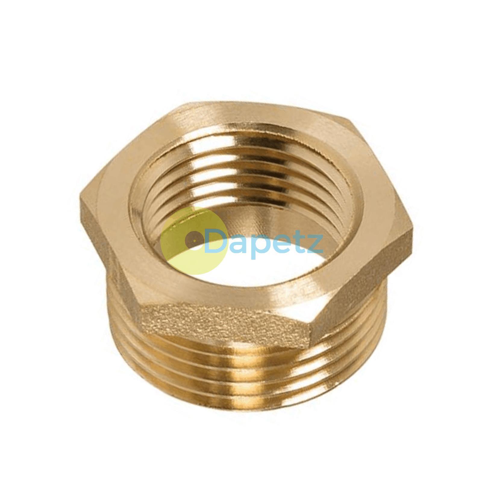 Brass-Reducing-Hexagone-Bush-BSP-Male-a-Femelle-Adaptateur-Connecteur-WRAS-approuves miniature 22