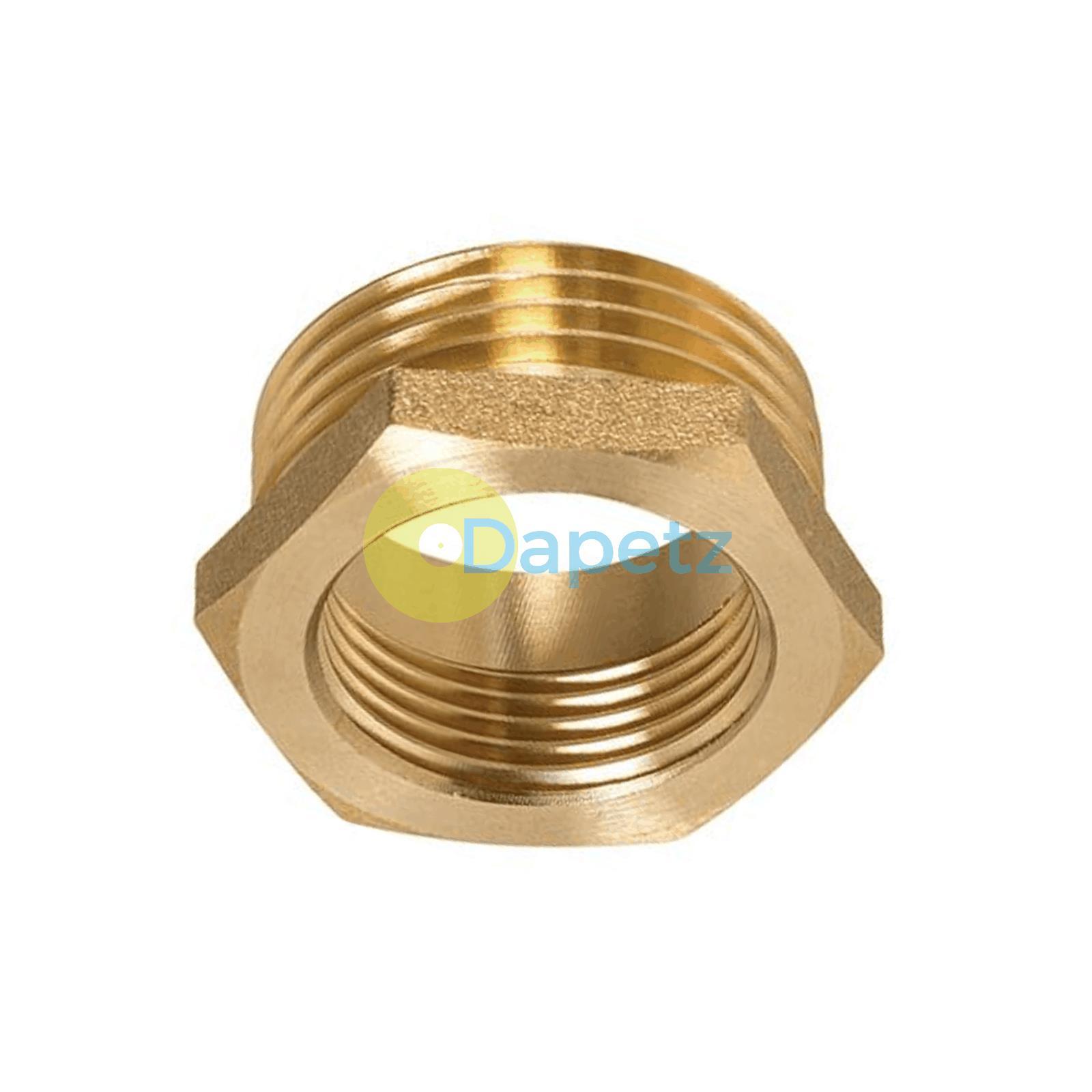Brass-Reducing-Hexagone-Bush-BSP-Male-a-Femelle-Adaptateur-Connecteur-WRAS-approuves miniature 10