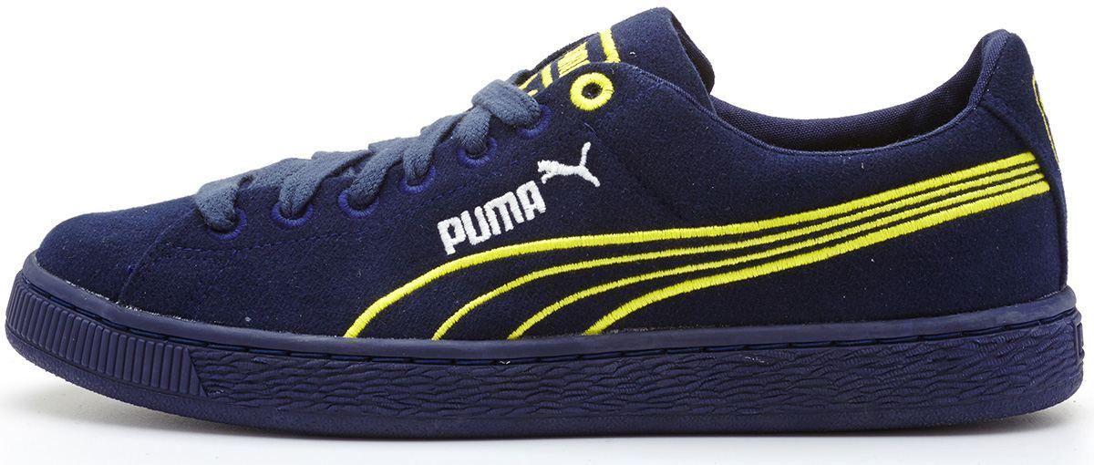 Puma Super Suede biodegradable classic navy blue trainers