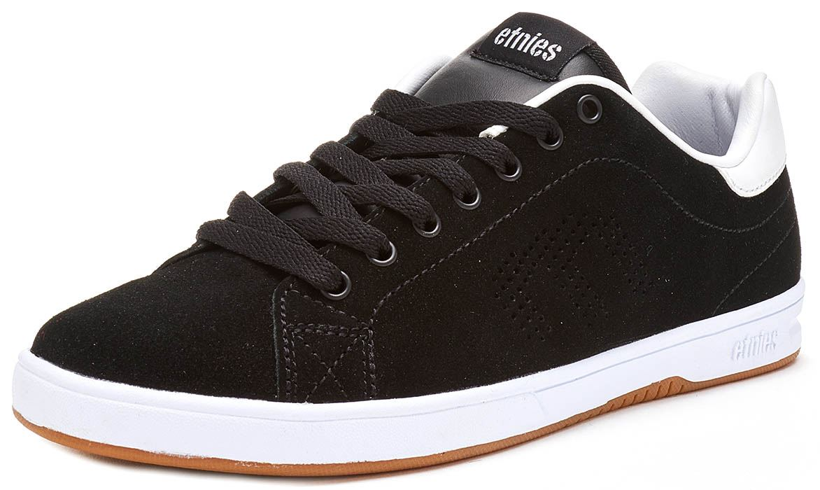 Etnies-Callicut-LS-Suede-amp-Leather-Vintage-Trainers-in-White-amp-Black-4101000474 thumbnail 7
