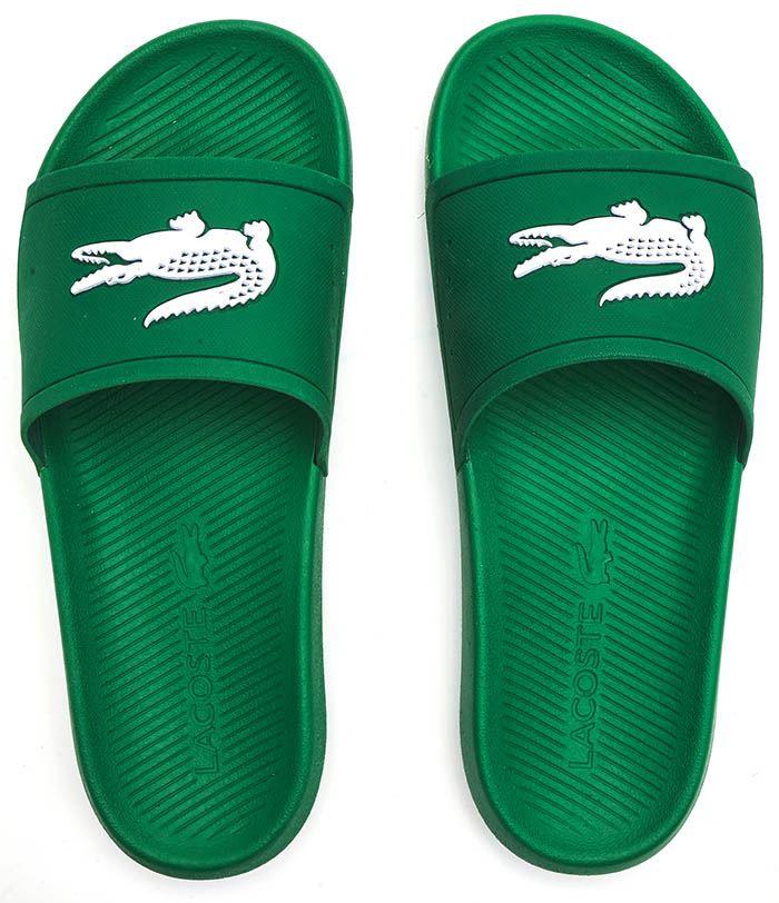 Green//White Lacoste Men/'s Croco 119 1 CMA Slides Sandal