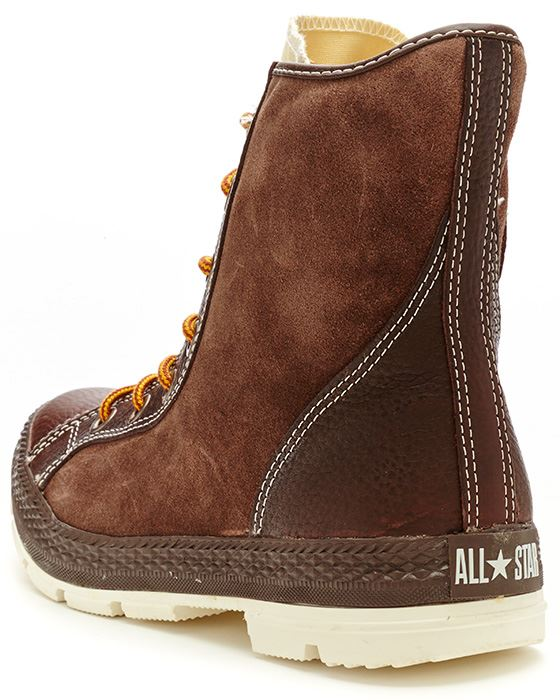93f6e9896089 Converse Chuck Taylor Outsider Hi Leather Boots Chocolate Brown 125664C 202.  Description Crafted using a high quality brown shade of leather
