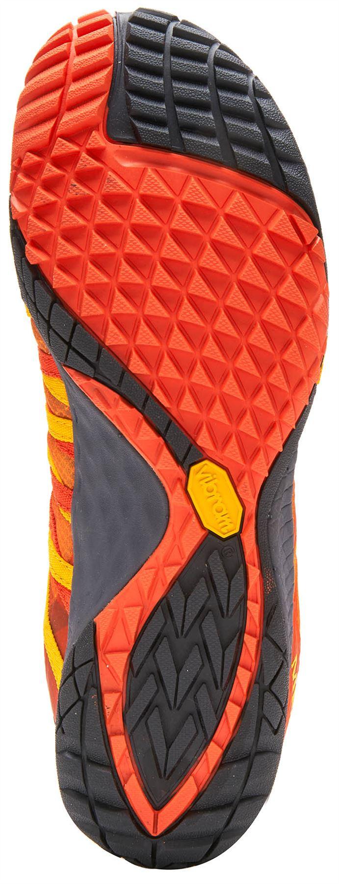 Merrell-Trail-Glove-4-entrenadores-en-Nautica-y-deporte-Azul-Molten-Lava-Rojo-Y-Naranja miniatura 13