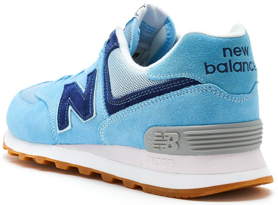brand new 35450 fba7e ... Suede rétro formateurs en cachemire bleu ML574 WYE. Description New  Balance 574 Classic