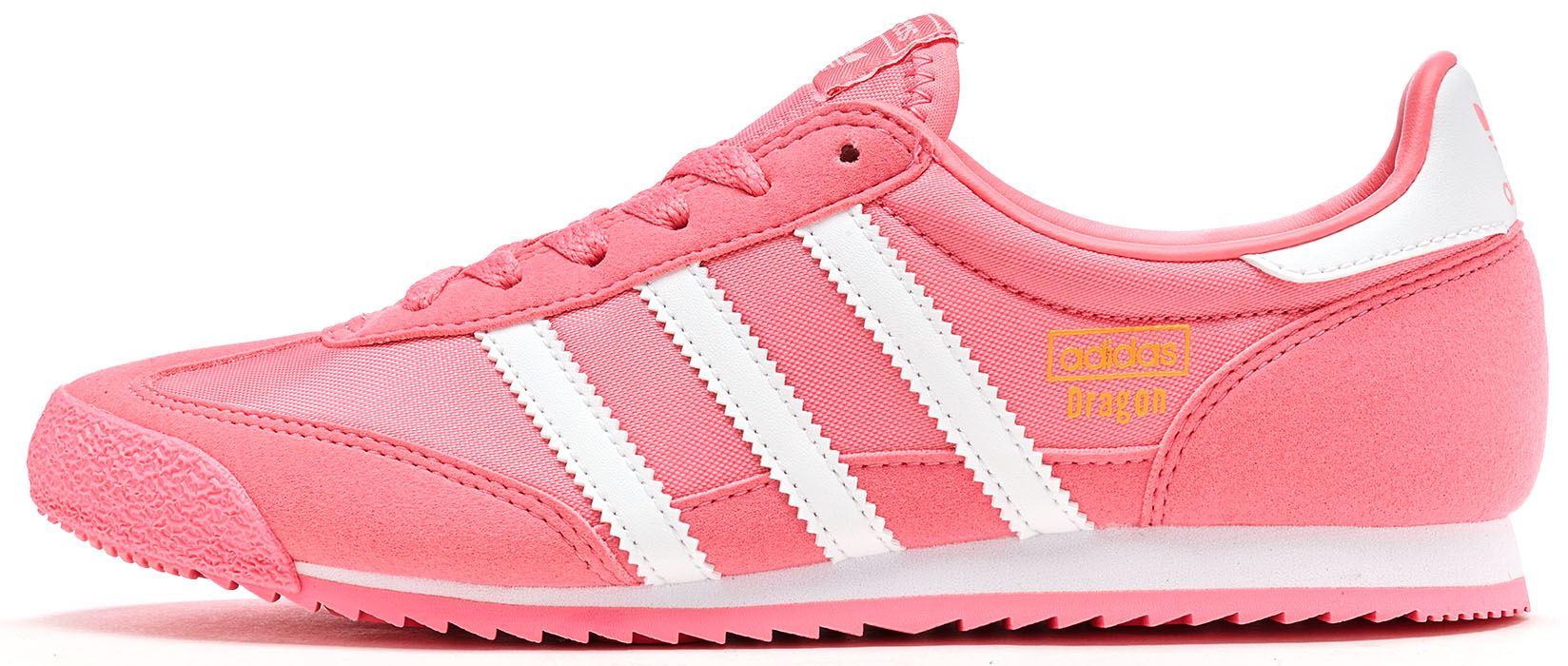ADIDAS Originali GS DRAGON OG Scarpe sportive in camoscio chiaro rosa e bianco