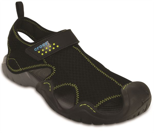 Crocs-Swiftwater-Sandals-in-Black-Charcoal-amp-Espresso-Brown-15041 thumbnail 4
