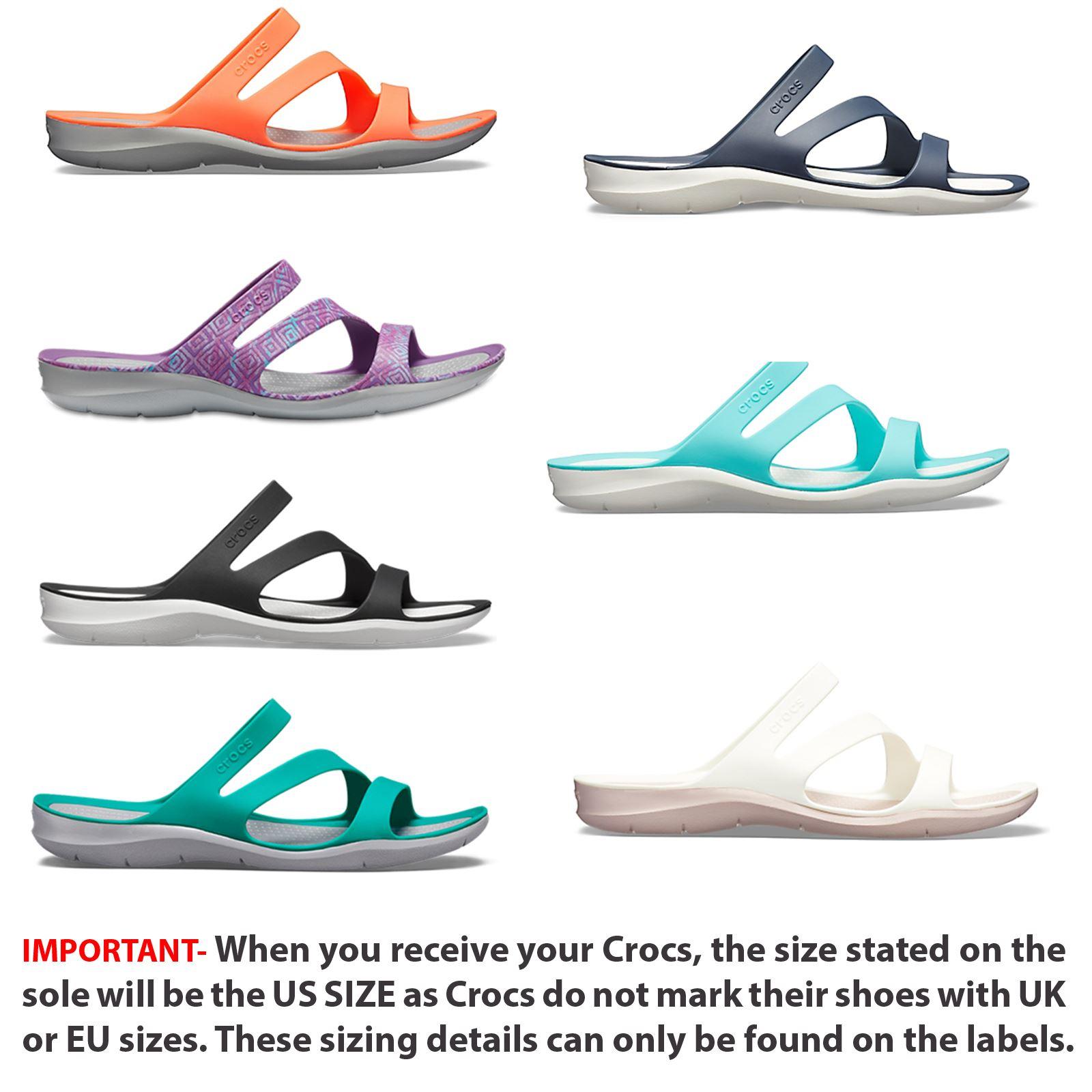 Crocs Damen Swiftwater Damen Sandalen Schuhe 203998-060 Schwarz