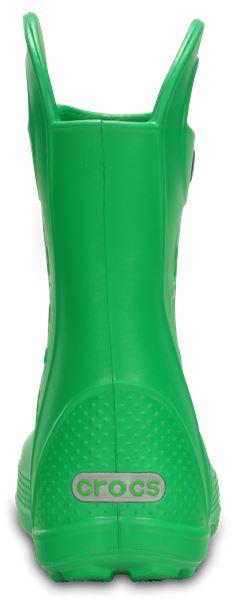 Crocs-Kids-Handle-It-Pluie-Botte-Wellies-en-Bleu-Vert-Rose-Gris-amp-Jaune-12803 miniature 30