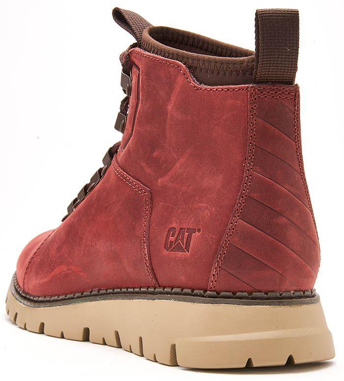 Caterpillar-CAT-Mitcham-Leather-Boots-in-Bronze-Brown-amp-Dark-Red thumbnail 8