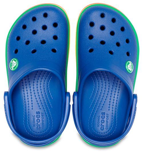 Crocs-Kids-Crocband-Rainbow-Wavy-Sequin-Relaxed-Fit-Clogs-Shoes-Pink-Blue-Orange thumbnail 10