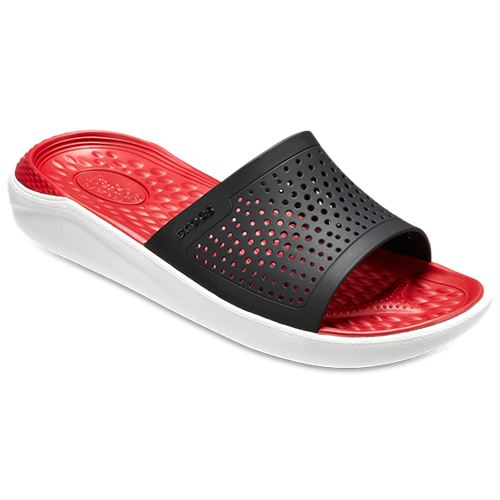 Black Crocs Relaxed Ride 205183 Fit in Pearl Sandali White scorrevoli Blue Lite R570w0