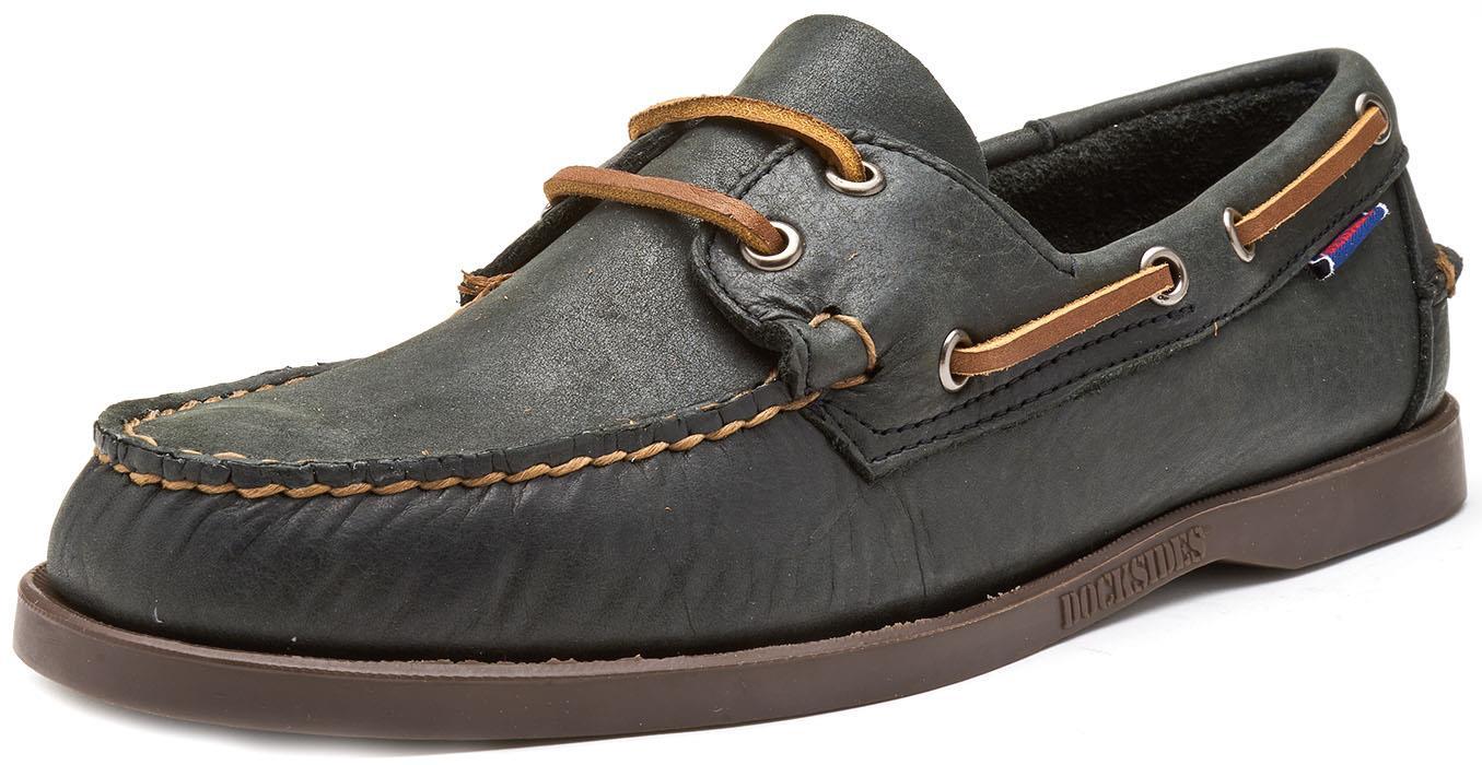 Sebago-Docksides-NBK-Suede-Boat-Deck-Shoes-in-Navy-Blue-amp-Coral-amp-Dark-Brown thumbnail 3