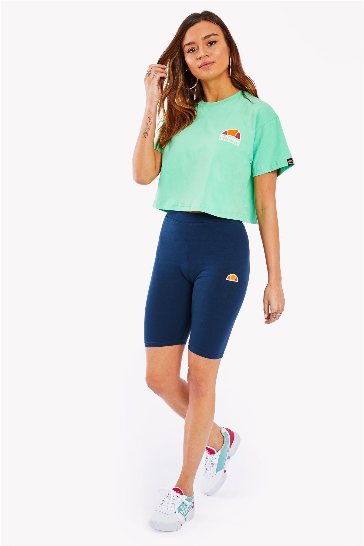 Ellesse-Women-Crop-Cotton-T-Shirt-Summer-Top-in-Pastel-Colours thumbnail 17