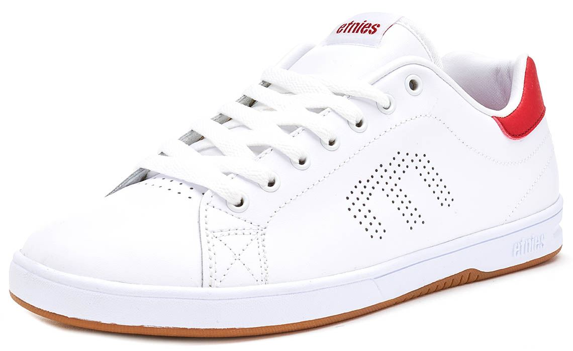 Etnies-Callicut-LS-Suede-amp-Leather-Vintage-Trainers-in-White-amp-Black-4101000474 thumbnail 11