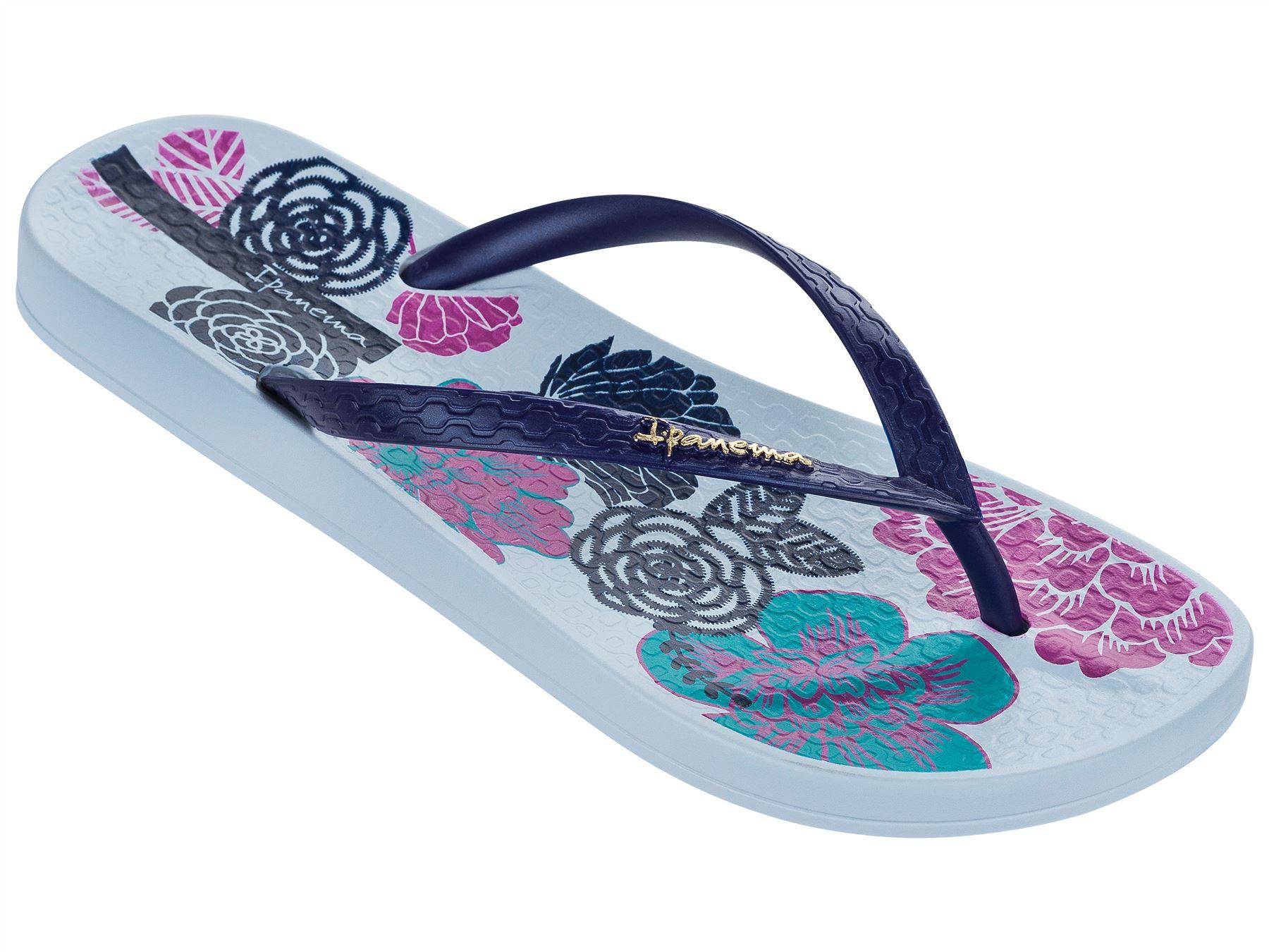 6d1689d9ca70 Ipanema Petal V Flowers Print Slim Footbed Flip Flops Beach Sandals ...