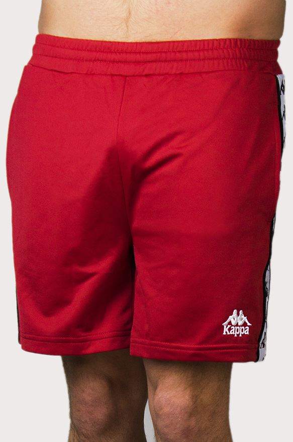 0d8e5ad059 Kappa Authentic Cole 222 Banda Slim Fit Summer Shorts in Red, White ...