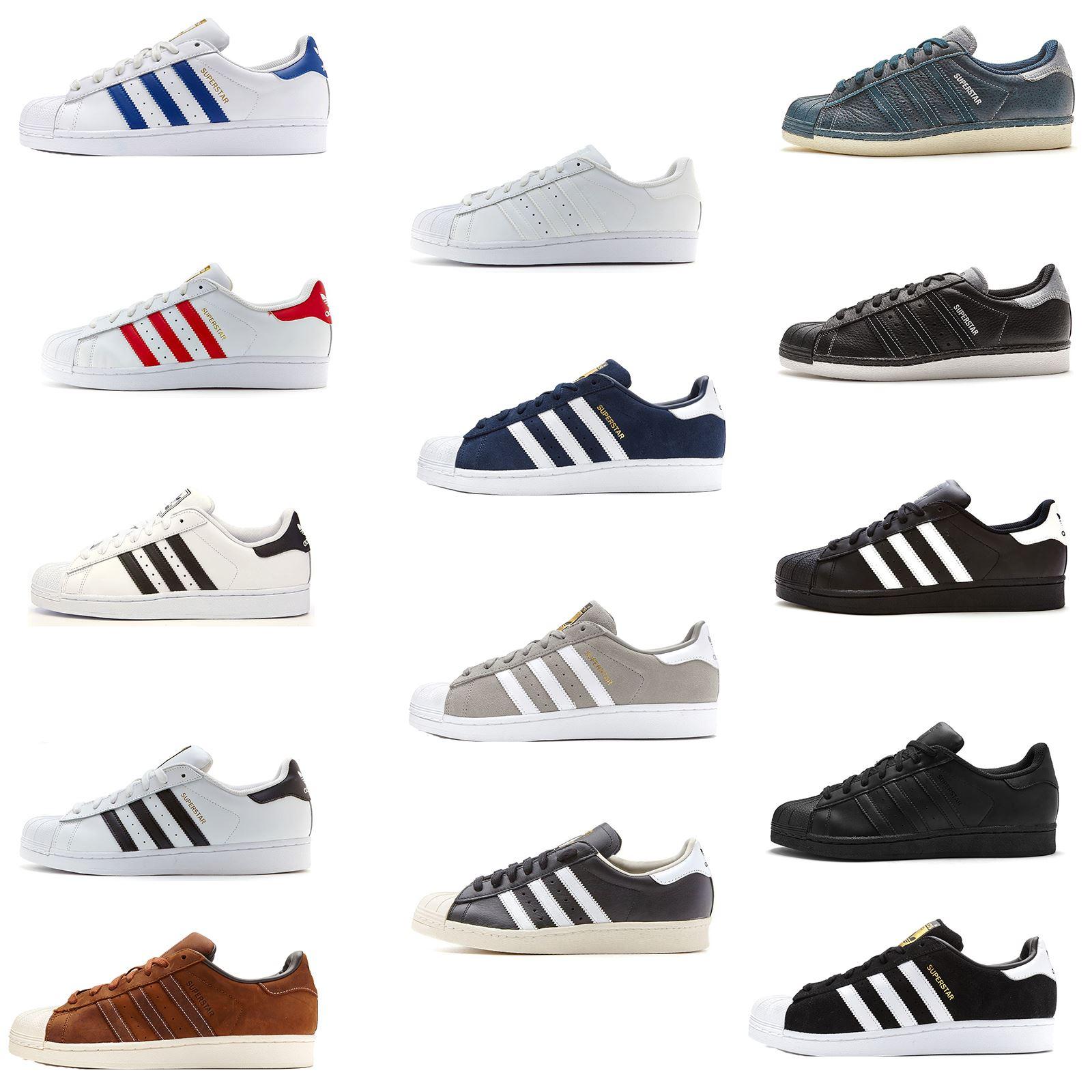 huge selection of bacdd 43e42 Hommes Adidas Originals Superstar cuir formateurs dans toutes les tailles