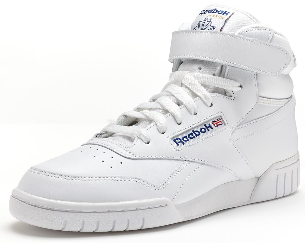 89812354ef43b0 Details about Reebok Classic EXOFIT Ex-O-Fit Hi Trainers in White 3477
