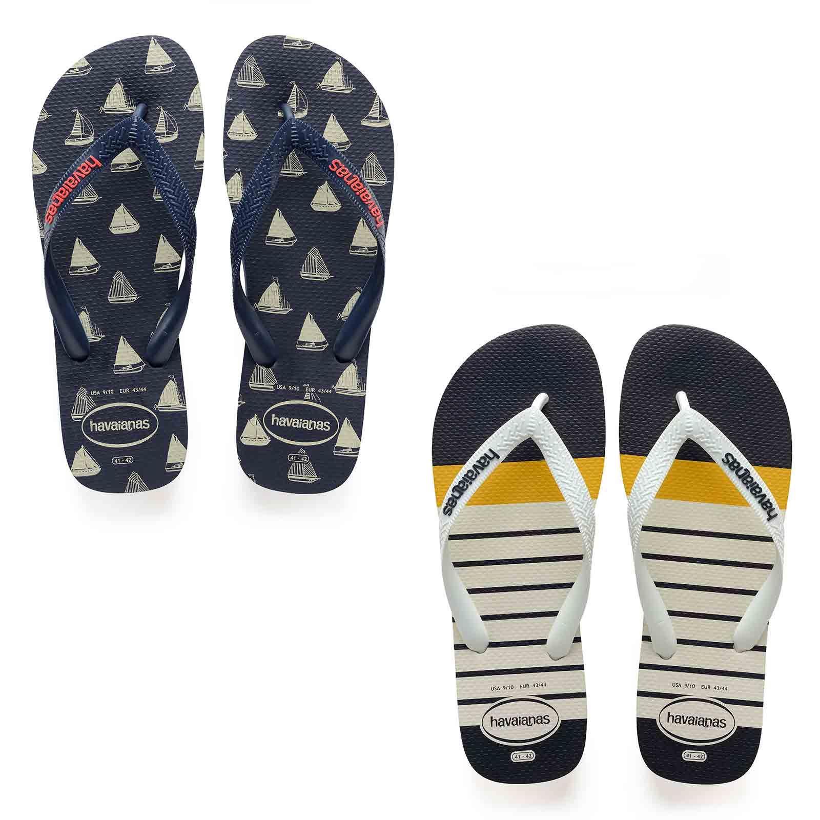 Mens Flip Flops White Havaianas Top Nautical Flip Flops