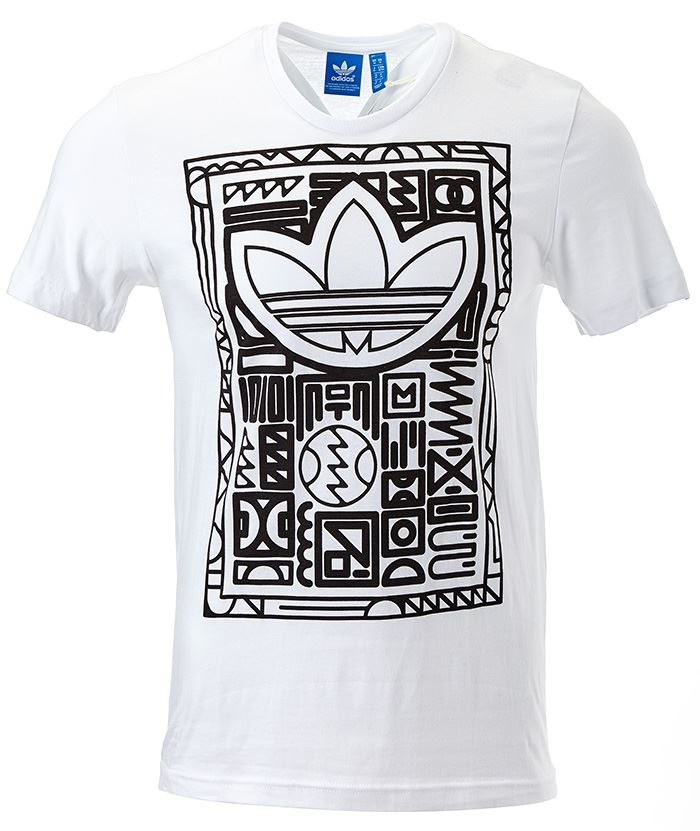 adidas originals men tee t shirt adidas logo in black blue. Black Bedroom Furniture Sets. Home Design Ideas