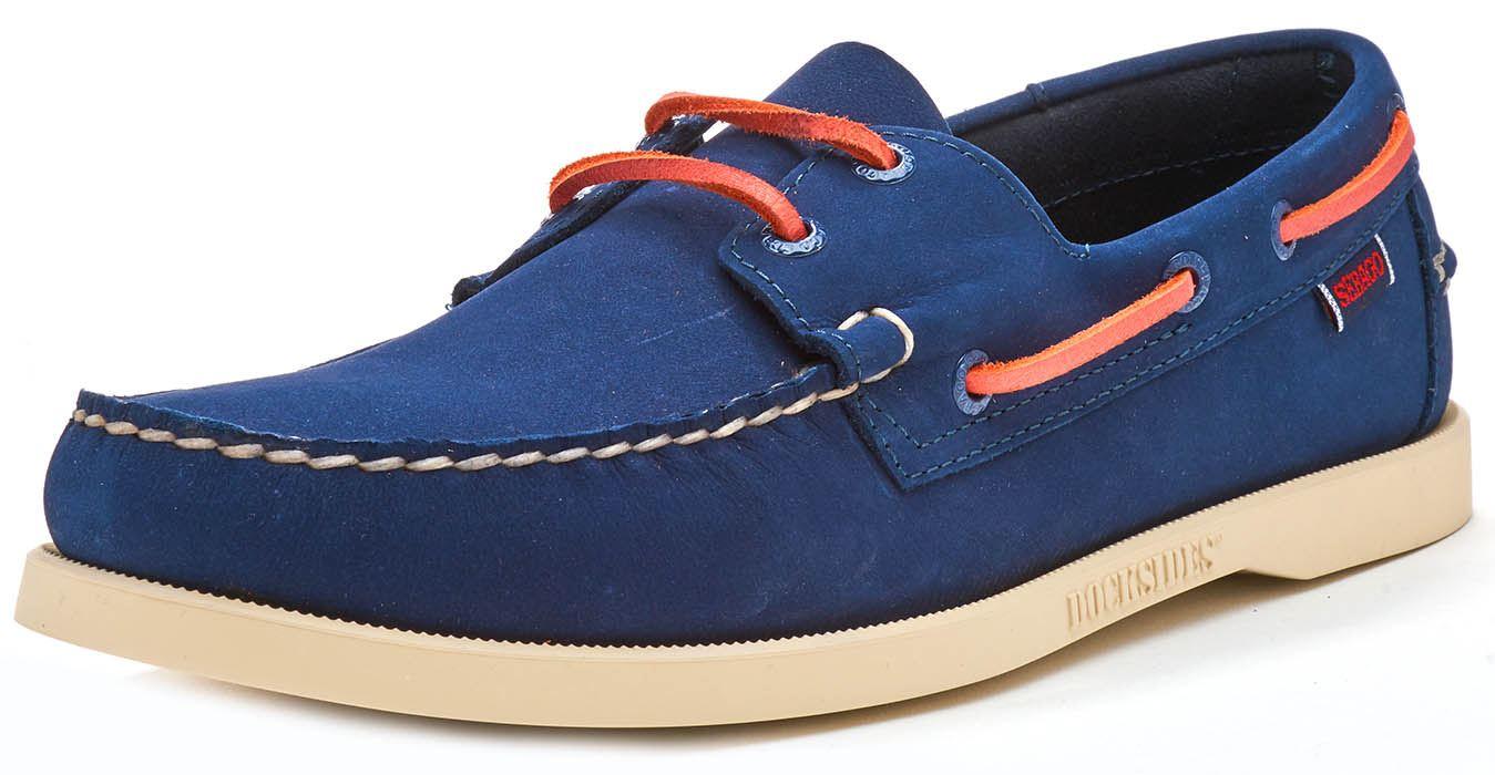 Sebago-Docksides-NBK-Suede-Boat-Deck-Shoes-in-Navy-Blue-amp-Coral-amp-Dark-Brown thumbnail 31