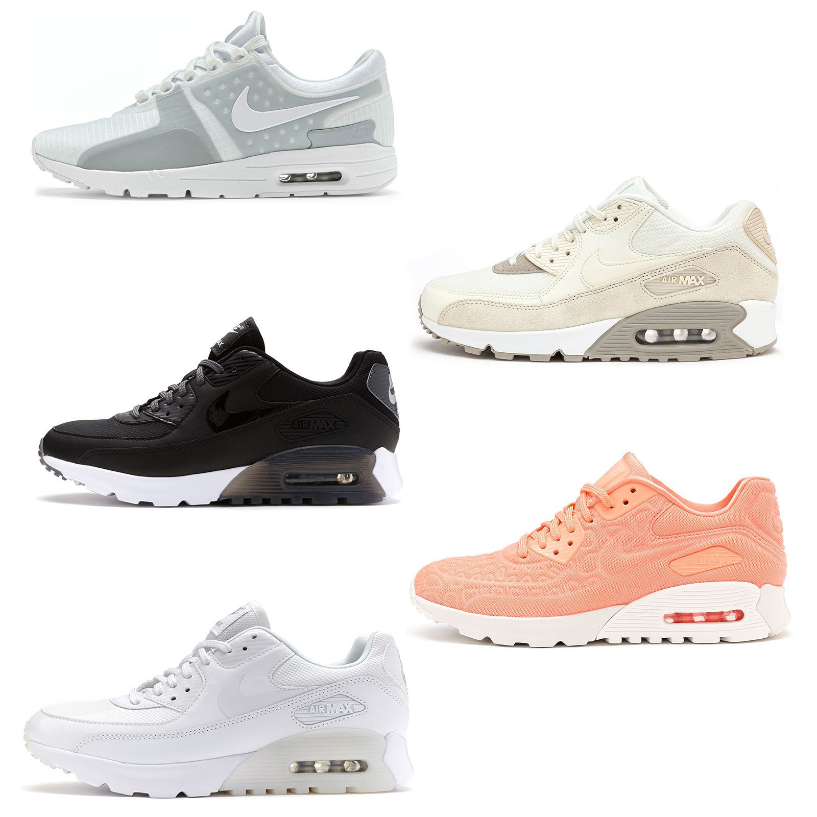 new product 85310 d3fbc Details about Women Nike Air Max 90 Essential Premium Lunar Leather Suede  Trainers All Sizes