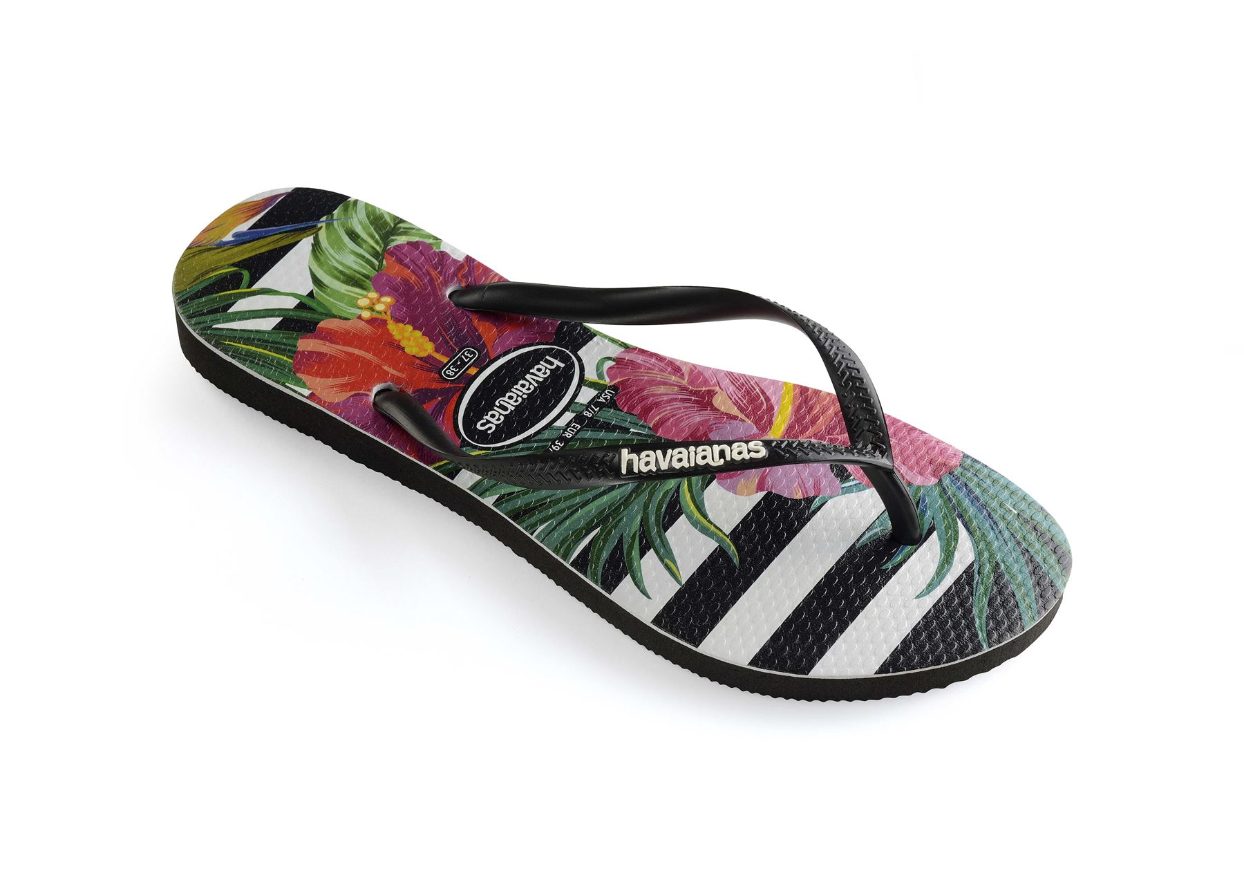 4ca11010a Havaianas Slim Tropical   Floral Print Flip Flops Summer Beach Pool ...
