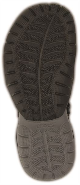 Crocs-Swiftwater-Sandals-in-Black-Charcoal-amp-Espresso-Brown-15041 thumbnail 7