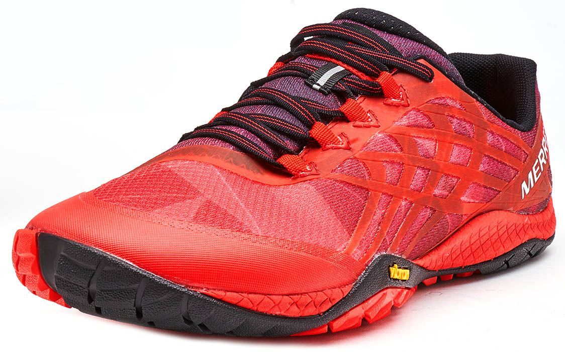 Merrell Trail Crusher Trainers Mens Fired Red Sports Fitness