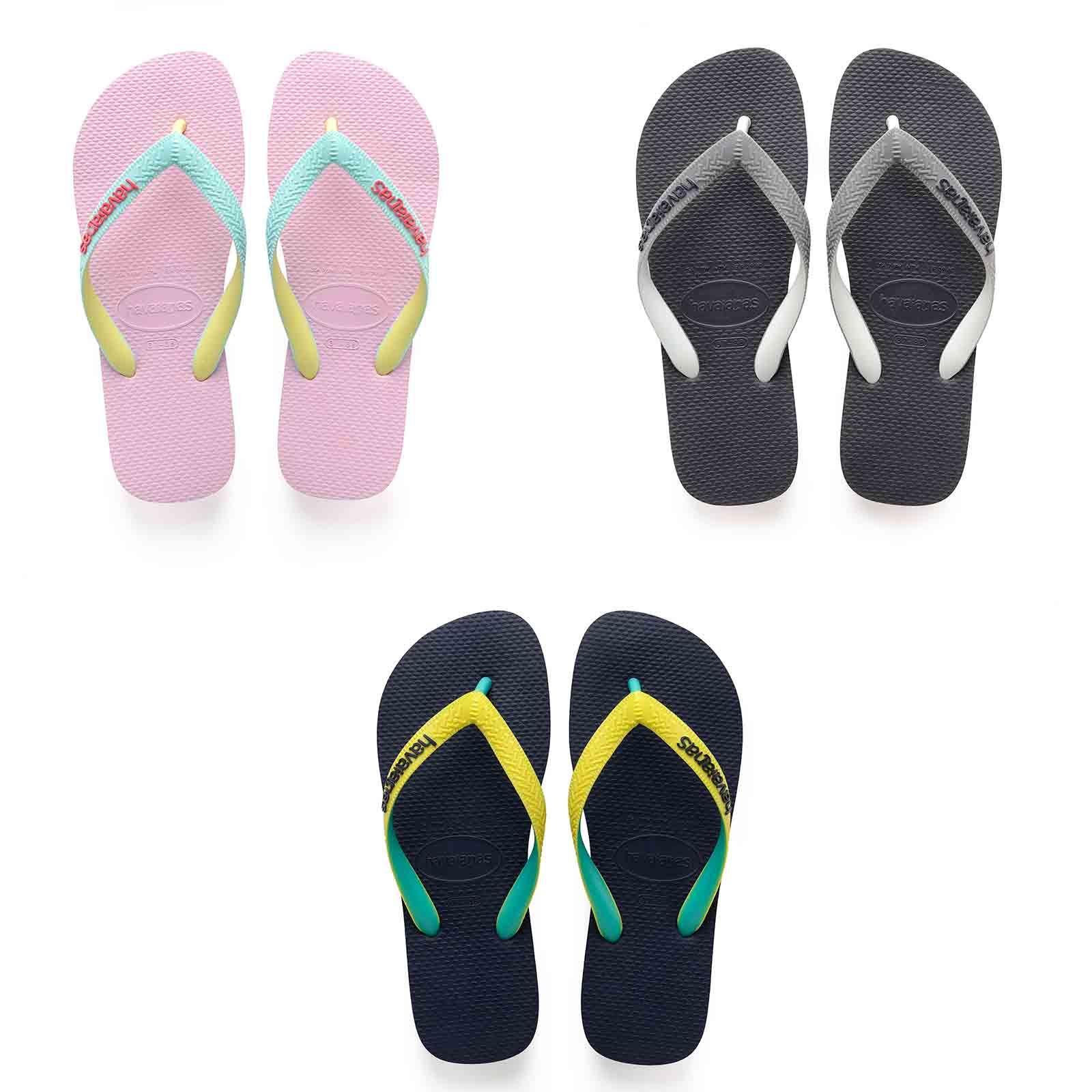 aba8beadb Details about Havaianas Top Mix Flip Flops Summer Beach Pool Sandals in Grey