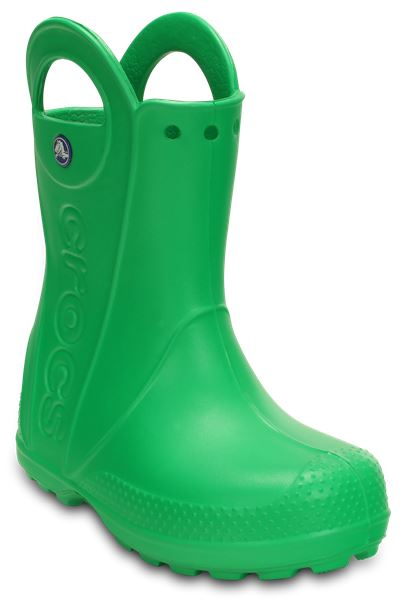 Crocs Kids Handle It Rain Boot Wellies In Blue Green