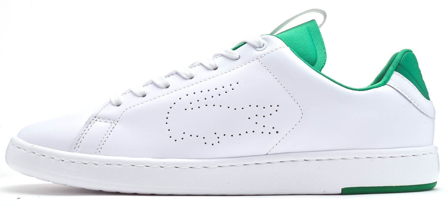 d4ffb9b61e31 Description Lacoste Carnaby Evo LIGHT WT 119 1 Perforated Big Croc Nappa  Trainers in White A court-inspired lace-up silhouette with a classic  cupsole ...