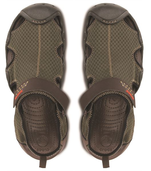 83ab6ec317bd Crocs-Swiftwater-Sandals-in-Black-Charcoal-amp-Espresso-
