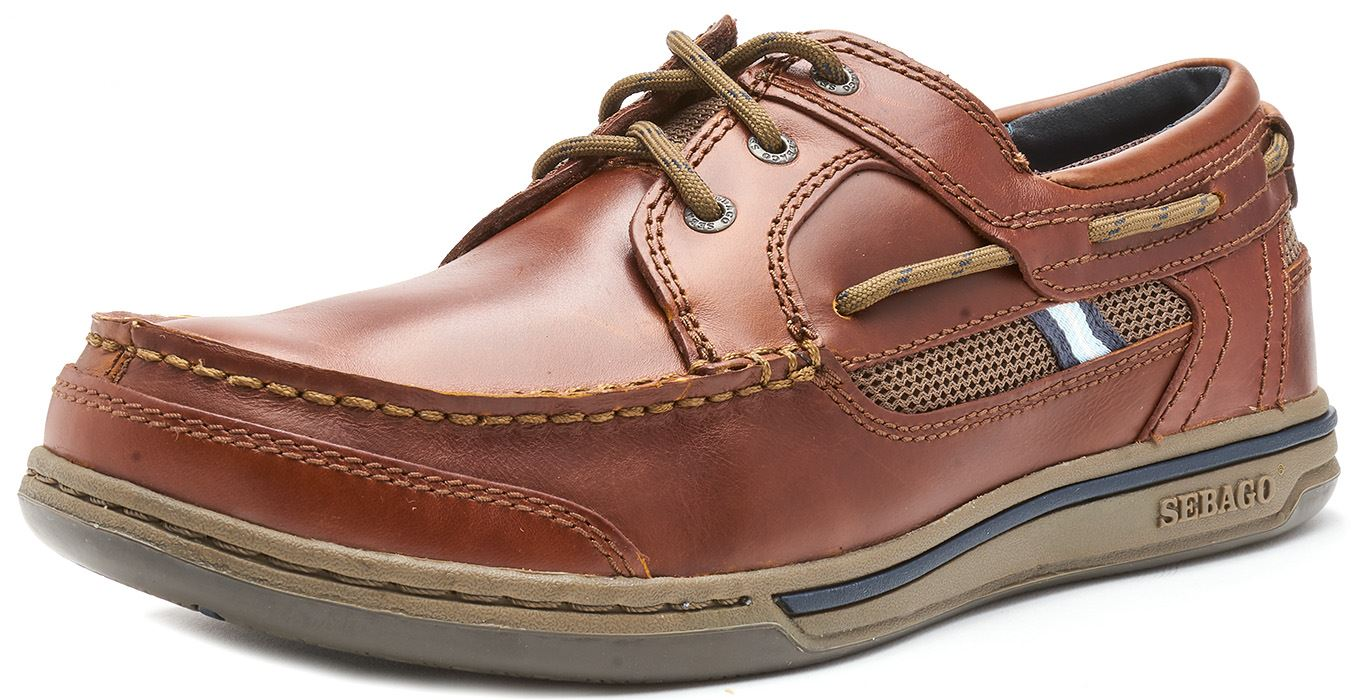 Sebago-Triton-Three-Eye-FGL-Suede-Boat-Deck-Shoes-in-Navy-Blue-amp-Brown-Cognac thumbnail 3