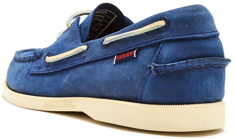 Sebago-Docksides-NBK-Suede-Boat-Deck-Shoes-in-Navy-Blue-amp-Coral-amp-Dark-Brown thumbnail 40