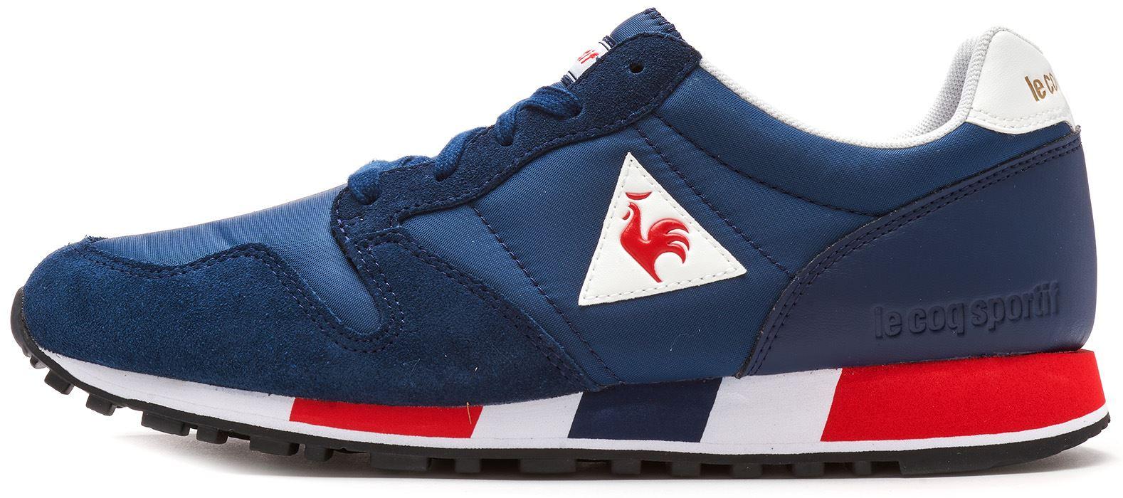 2f5a60ea Le Coq Sportif Omega X Sport & Nylon Trainers in Blue & Grey 181F079 ...