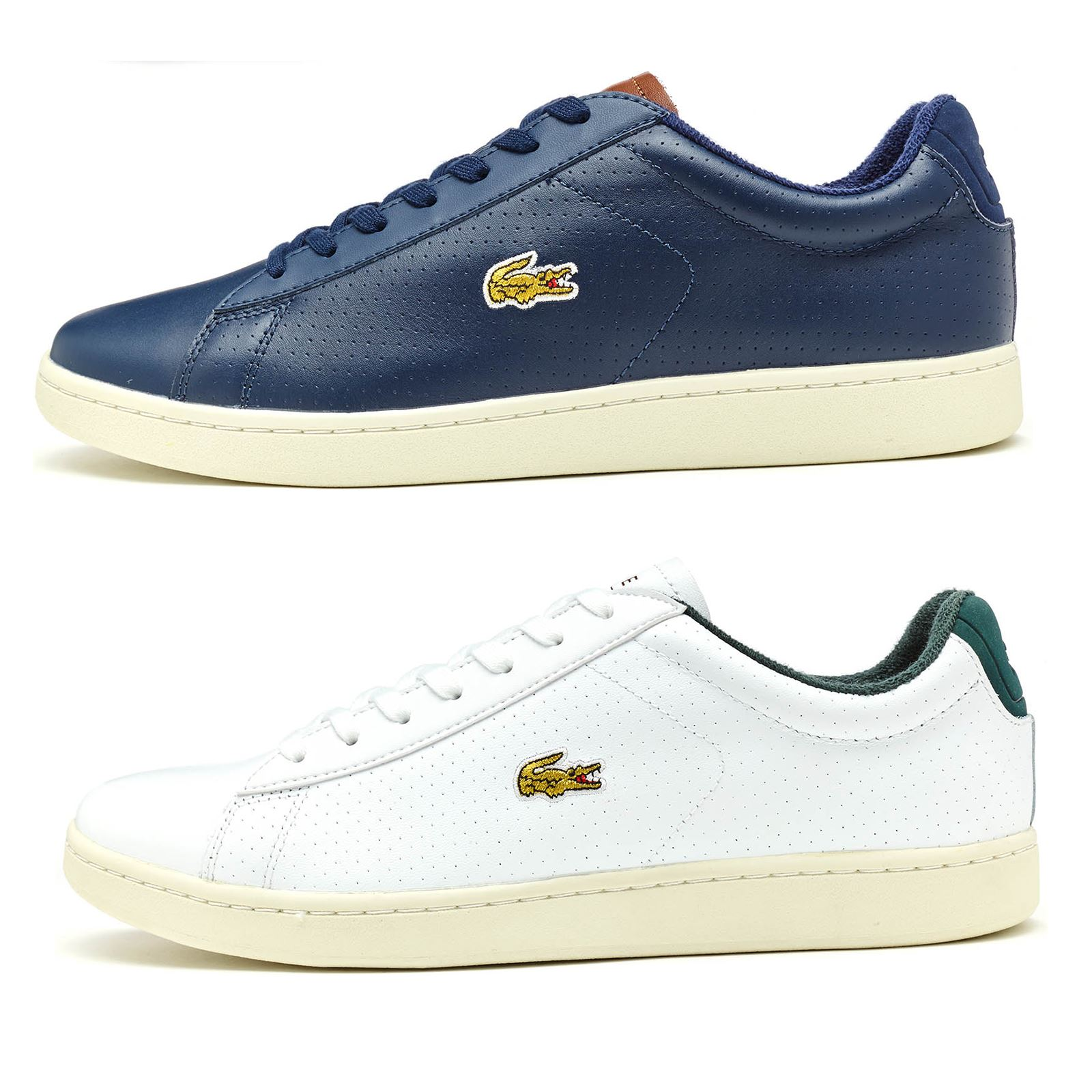 ef0d4d156591a Details about Lacoste Carnaby EVO 317 SPM Leather Trainers in White   Blue