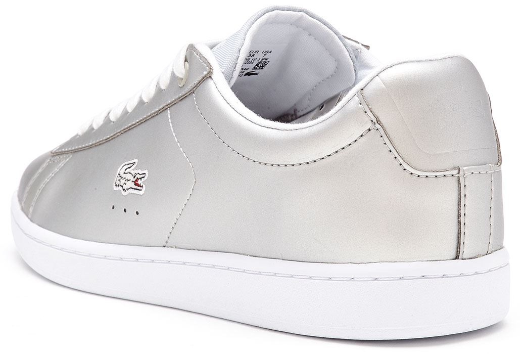 29f0b336ad46 Lacoste Women's Carnaby EVO 117 Leather Lace up Trainer Silver UK 8. About  this product. Picture 1 of 5; Picture 2 of 5; Picture 3 of 5; Picture 4 of 5