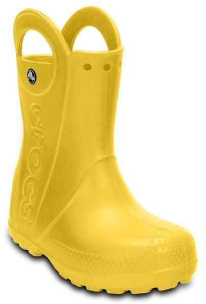 Crocs-Kids-Handle-It-Pluie-Botte-Wellies-en-Bleu-Vert-Rose-Gris-amp-Jaune-12803 miniature 47