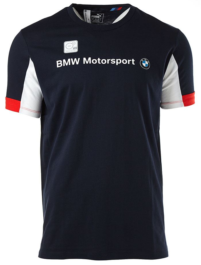 puma tricolour bmw motorsport logo t shirt in black. Black Bedroom Furniture Sets. Home Design Ideas