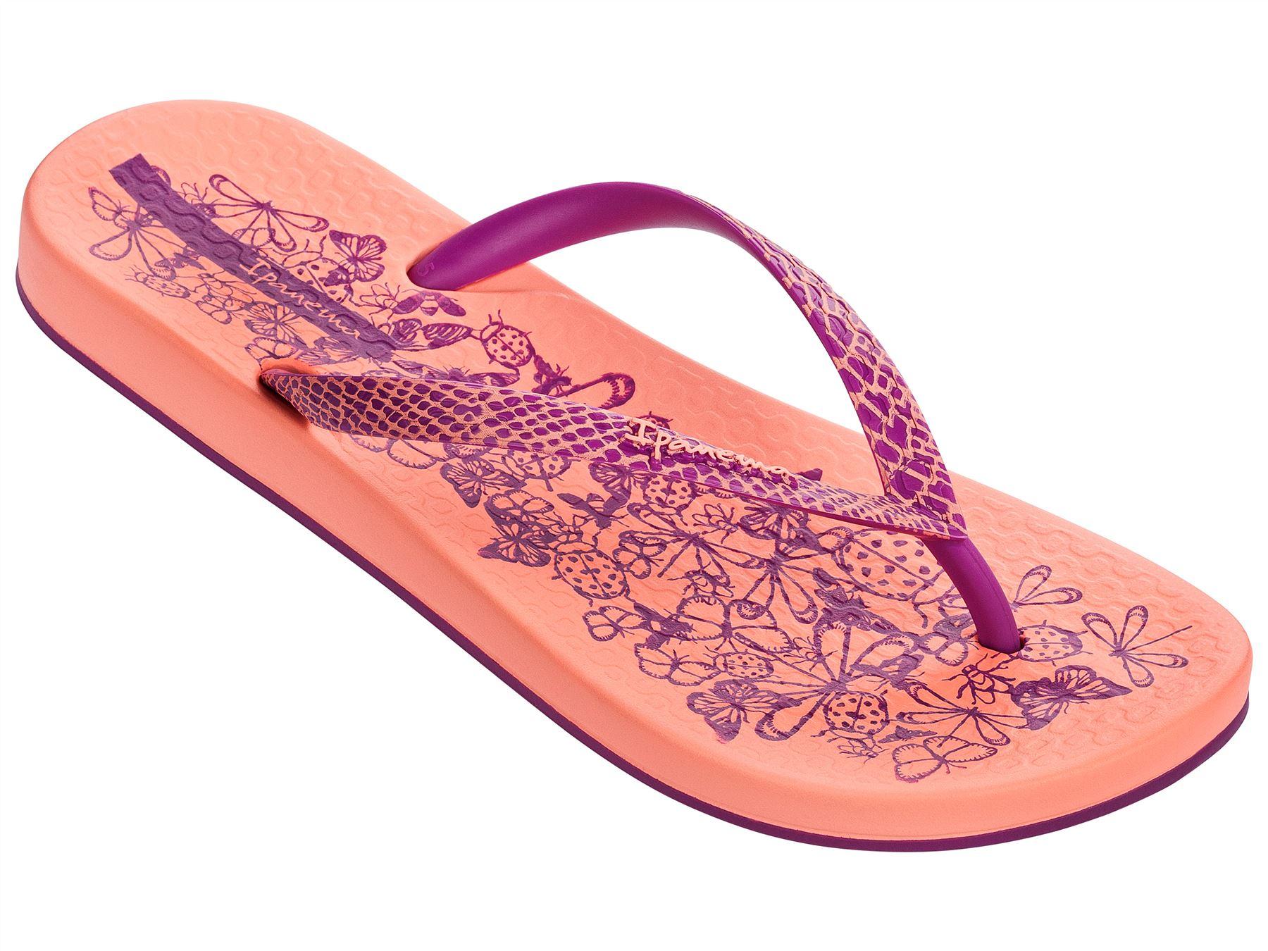 21745d799004 Ipanema Nature Slim Footbed Flip Flops Beach Sandals Flowers Print 81926