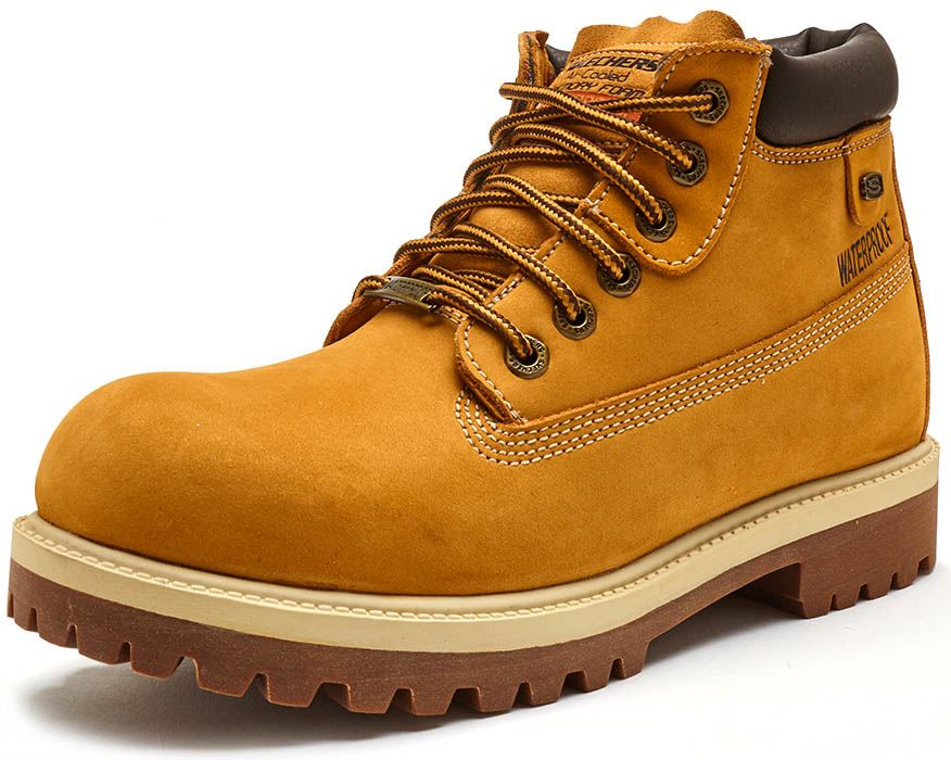 511c5e4688a Details about Skechers Sergeants Verdict Ankle Winter Boots in Dark Brown,  Black & Wheat 4442