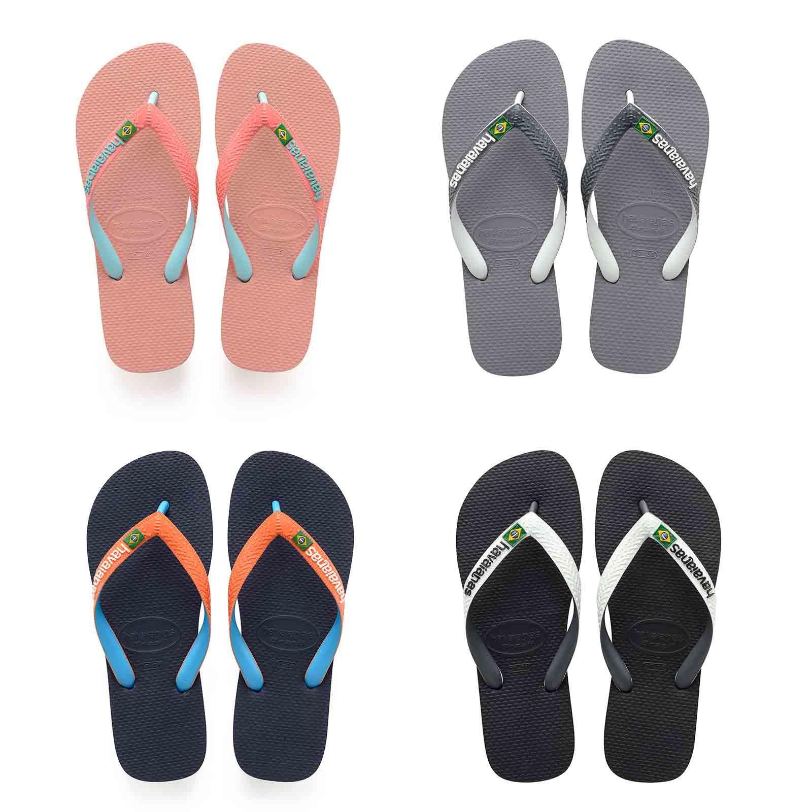 3faf9b0b3 Details about Havaianas Brasil Mix Flip Flops Summer Beach Thongs Sandals  Wide Range Colours