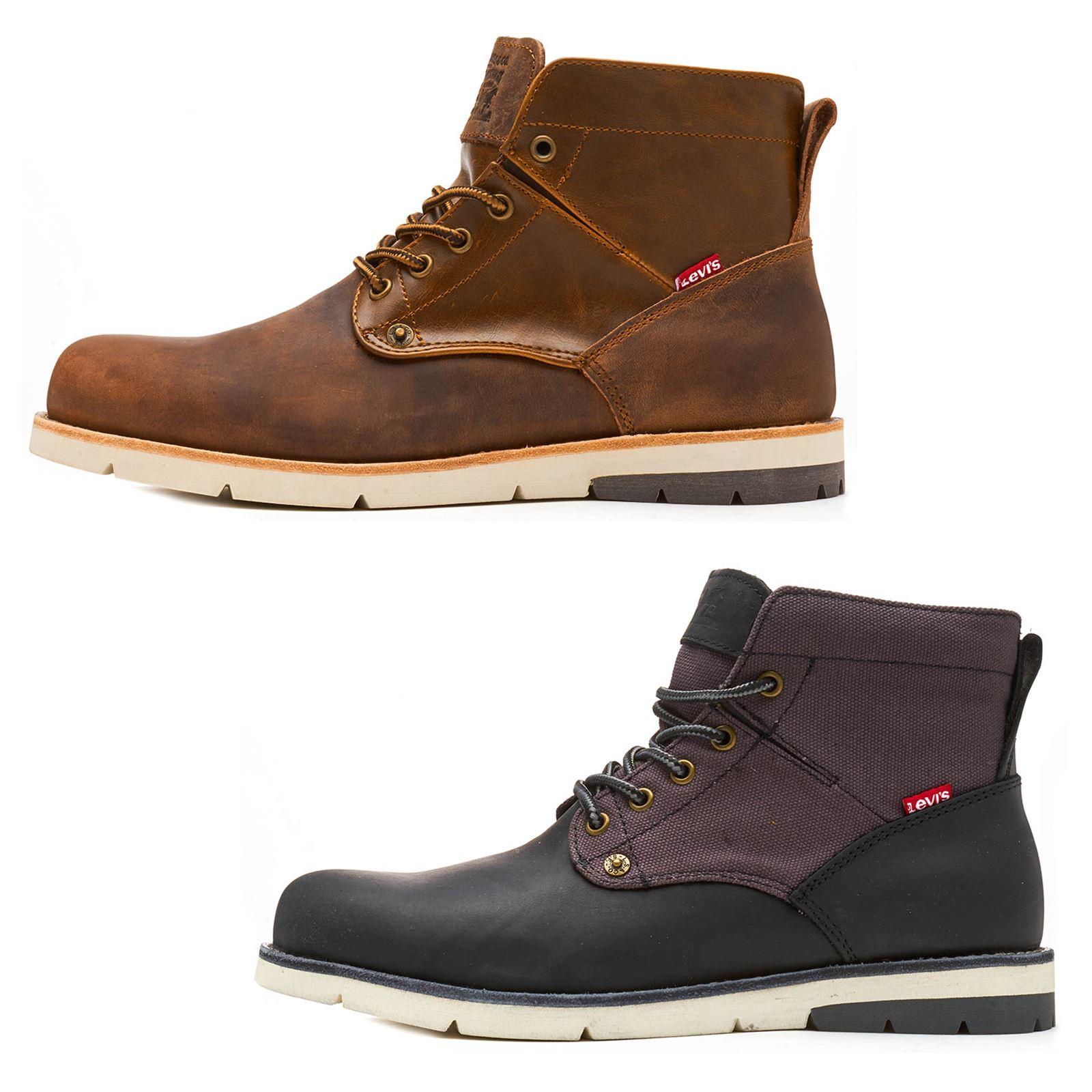 4c989369df4 In Leather Boots Ankle Jax Brown Regular Tab Dark Red Levis Black amp   5pZwYRqR