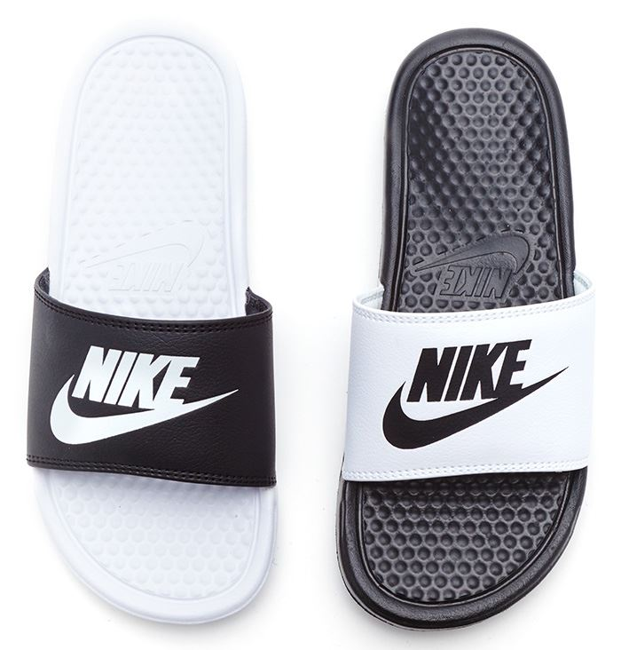 Buy Women Shoes / Nike Benassi Just Do It White Slider Sandals