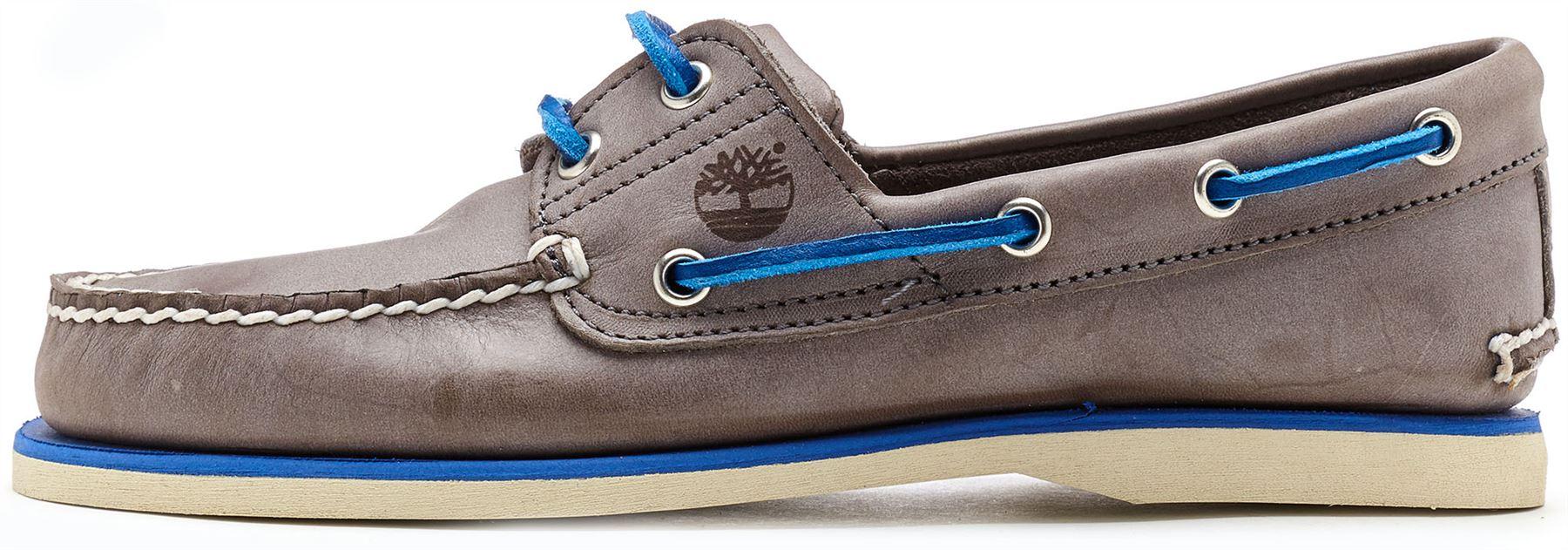 cc42e699eab amp  2 Chaussures En Bateau Bleu Classique Gris Oeillet Cuir Timberland  x7gqHOwC