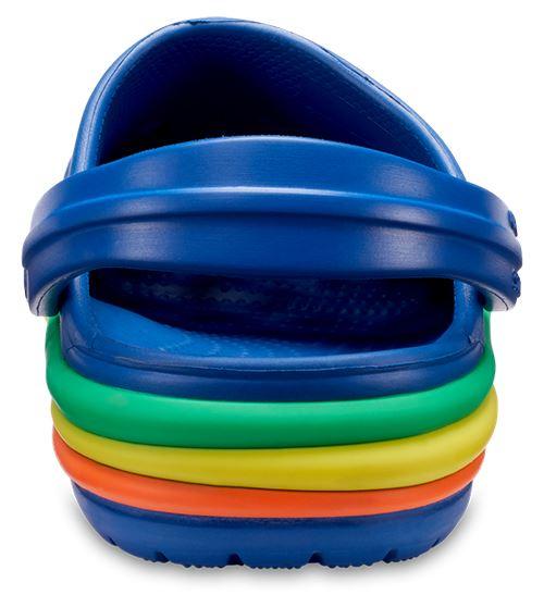 Crocs-Kids-Crocband-Rainbow-Wavy-Sequin-Relaxed-Fit-Clogs-Shoes-Pink-Blue-Orange thumbnail 11