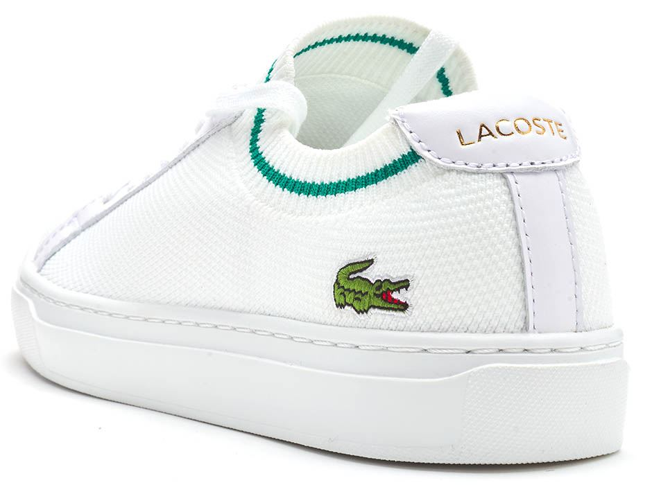 Lacoste-La-Piquee-119-1-CMA-Lace-Up-Textile-Trainers-in-White-amp-Green-amp-Blue thumbnail 4