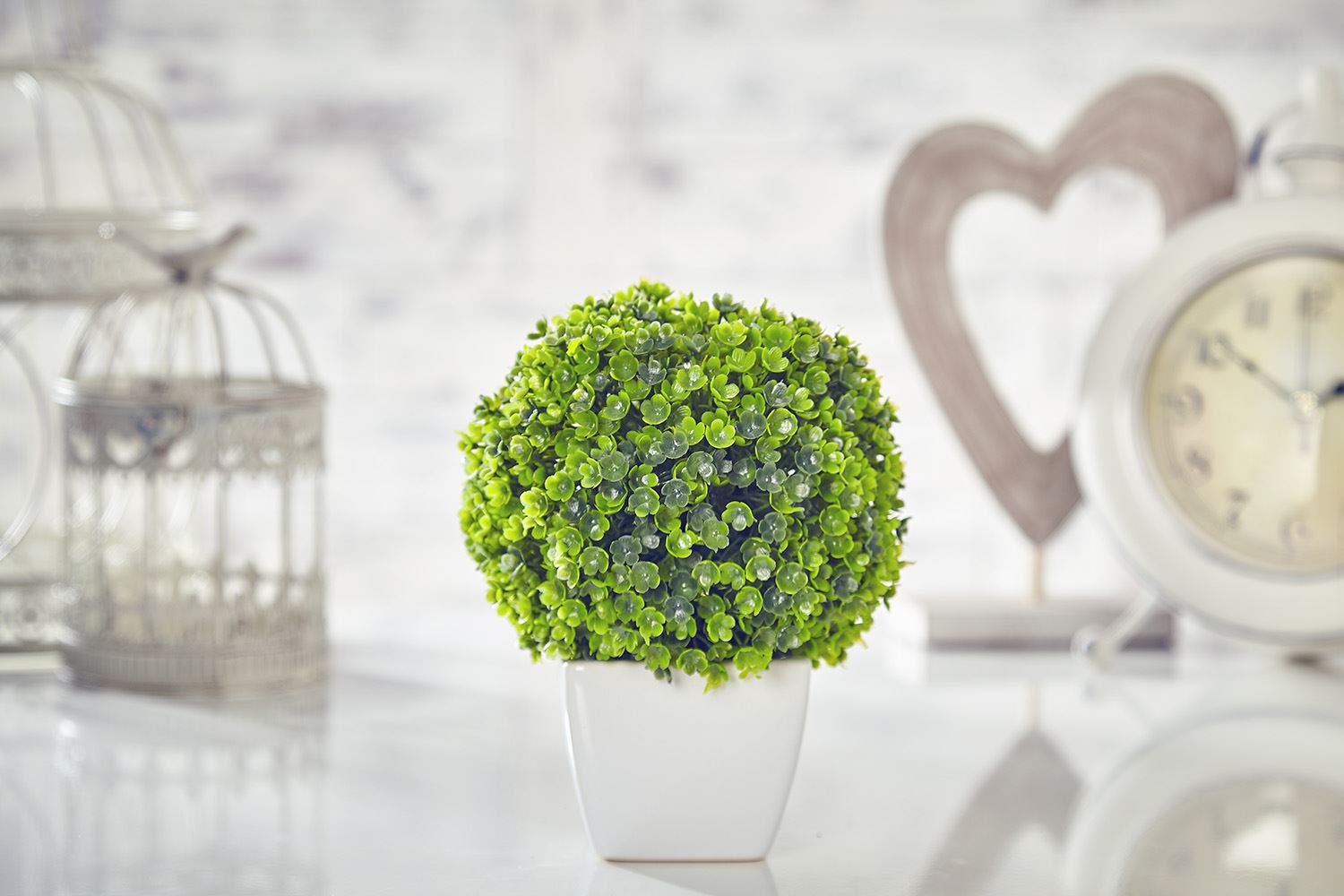 Artificial Topiary Tree & Ball Flowers Buxus Boxwood ...